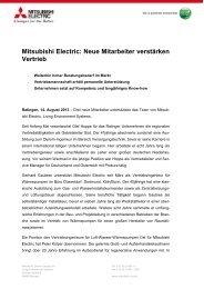 Mitsubishi Electric: Neue Mitarbeiter verstärken Vertrieb
