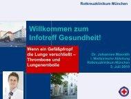 Thrombose und Lungenembolie - Rotkreuzklinikum München