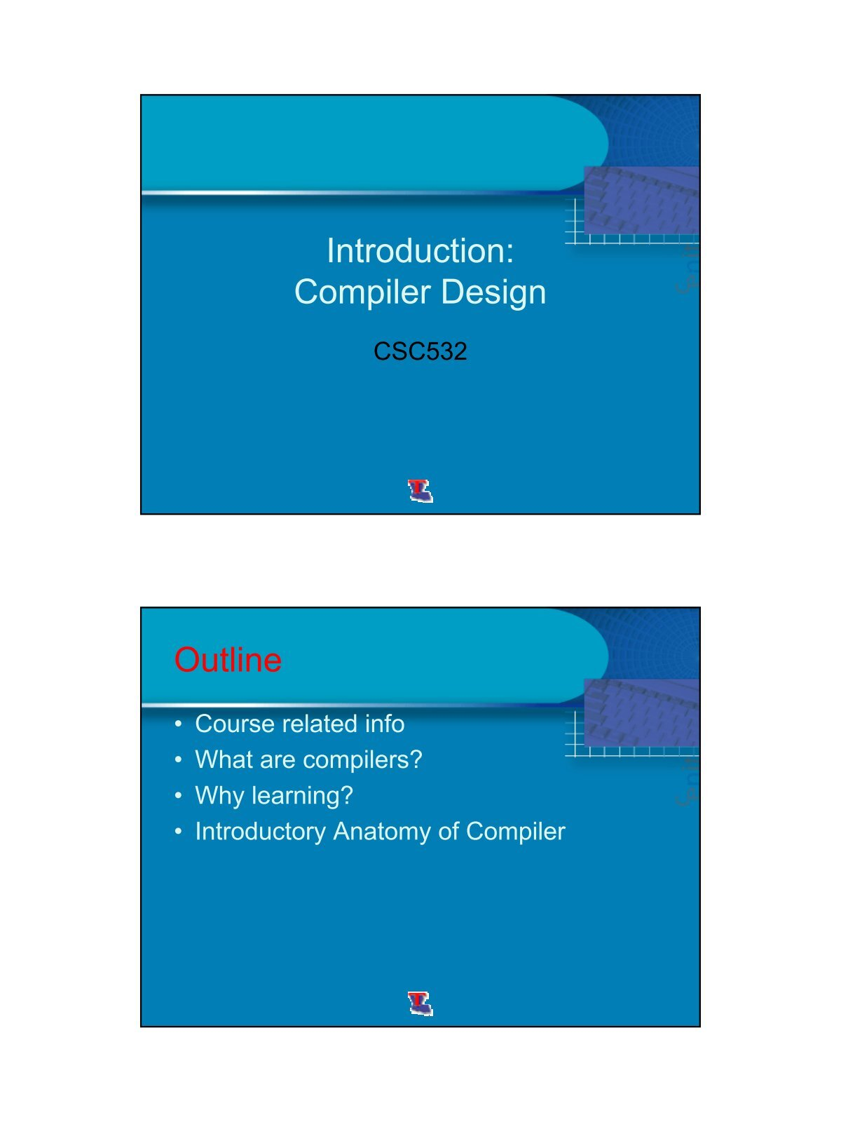 compiler design 2 Compiler design course by dr wesam ashour, lecturer at the islam.