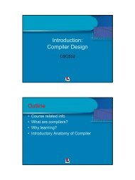Introduction: Compiler Design Outline