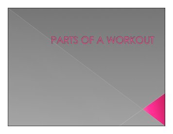 PARTS OF A WORKOUT - PhysicallyEducated.com