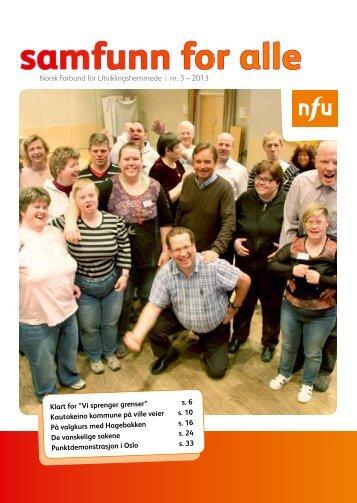 Samfunn for Alle nr 3 2013 - NFU