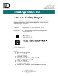 Data Matrix Symbology - UID2Go