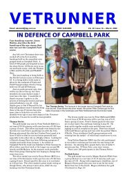 IN DEFENCE OF CAMPBELL PARK - ACT Veterans Athletics Club