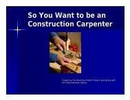 Construction Carpenter E-book (PDF) - Career and Technical ...