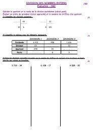 Evaluation Division CM2 - i-profs.fr