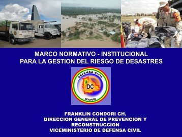 marco normativo - institucional para la gestion del riesgo de desastres