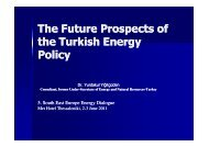 The Future Prospects of the Turkish Energy Policy