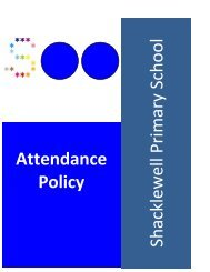 Attendance Policy - Shacklewell Primary School