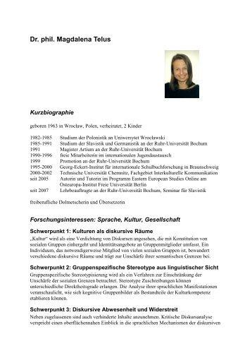 Persönliche Vorstellung kurz\374 - European Studies