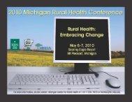 2010 Brochure - Michigan Center for Rural Health - Michigan State ...