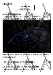 Chapitre I Notion de gravitation I. Le système solaire Le ... - Physix.fr
