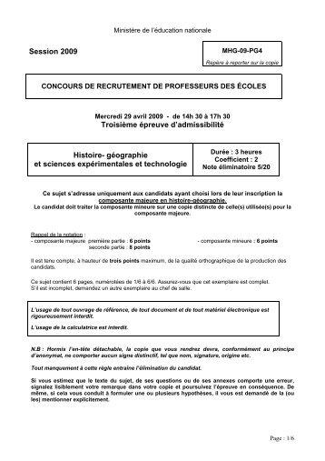 histoire et géographie - i-profs.fr