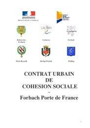 CONTRAT URBAIN DE COHESION SOCIALE Forbach Porte de ...
