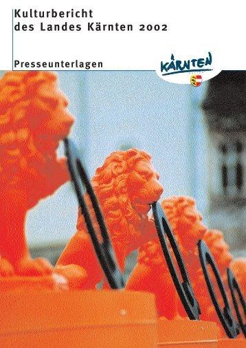 Kulturbericht des Landes Kärnten 2002