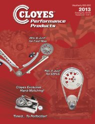 high performance parts lookup (pdf only) - Cloyes Gears and Products