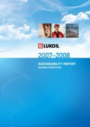 LUKOIL 2007 – 2008 Sustainability Report.