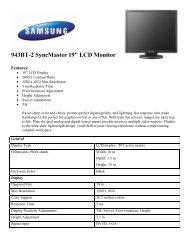 "943BT-2 SyncMaster 19"" LCD Monitor - Network Spectrum, Inc."