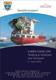 KAREN DANIELSEN - Påsejling af ... - Søfartsstyrelsen