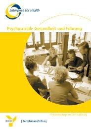 Psychosoziale Gesundheit und Führung - Enterprise for Health