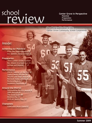 Summer 2009 Issue - Center Grove Community School Corporation
