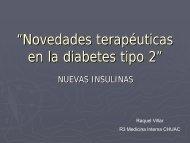 """""""Novedades terapéuticas en la diabetes tipo 2"""""""