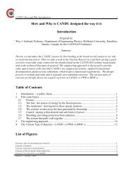 Design Requirements and Engineering Considerations - CANDU ...