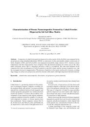 Characterization of Porous Nanocomposites ... - IngentaConnect
