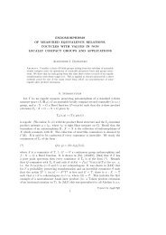 ENDOMORPHISMS OF MEASURED EQUIVALENCE RELATIONS ...