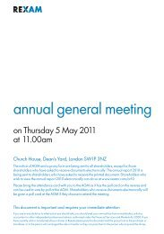 Rexam notice of annual general meeting 2011