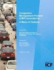 Congestion Management Process (CMP) Innovations: A ... - INCOG