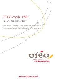 OSEO capital pmE Bilan 30 juin 2010 - Bpifrance