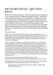 Læs hele artiklen - Senior Erhverv Danmark