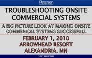 TROUBLESHOOTING ONSITE COMMERCIAL SYSTEMS