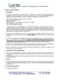CONVITE LACTEC N° 002/2009 1 PREÂMBULO 1.1 O Instituto de ...