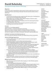 Download my resume - David Rolnitzky