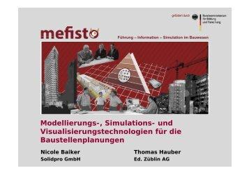 und Visualisierungstechnologien für die - Mefisto