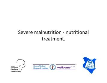 Severe malnutrition - nutritional treatment. - iDOC Africa