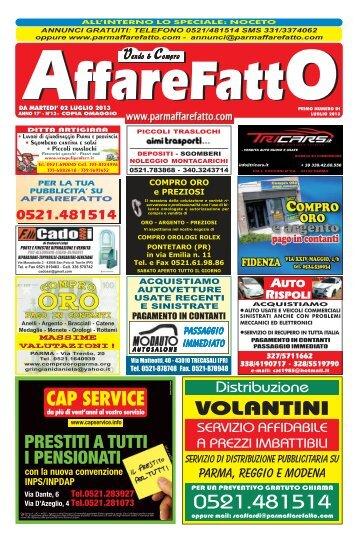VOLANTINI 0521.481514 - Affare Fatto Parma