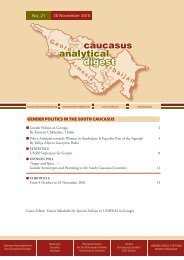Gender Politics in the South Caucasus - Heinrich Boell Foundation