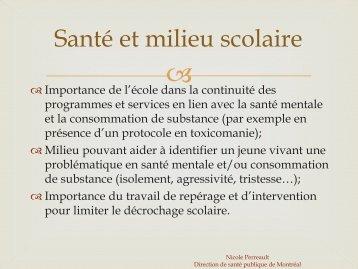 Promotion de la santé et prévention en toxicomanie - Institut ...
