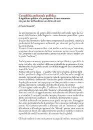 Contabilità ambientale pubblica, di F.Giovanelli - Agenda 21 Locale ...