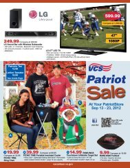At Your PatriotStore Sep 13 - 23, 2012 - Veterans Canteen Service