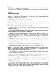 Ley Bebidas Alcoholicas - Ayuntamiento de Zapopan
