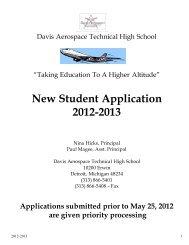 New Student Application 2012-2013 - Detroit Public Schools