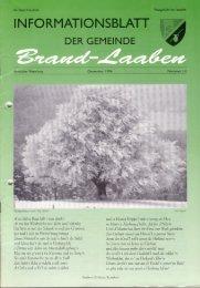 GEMEINDEZEITUNG - 14 - Dezember 1996 (6,6 MB) - Brand-Laaben
