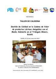 TALLER DE CALIDENA - MASRENACE