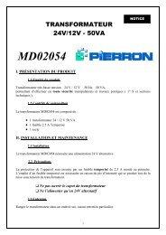 Transformateur 24 V - Pierron