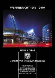 werkbericht 1966 – 2010 team a graz - ARCHITEKTUR JOURNAL