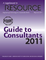 2011 Guide to Consultants - American Society of Agricultural and ...